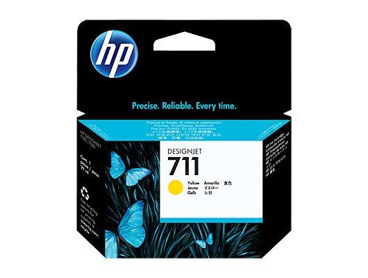 Картридж струйный HP 711 CZ132A желтый для HP DJ T120/T520 (29мл)