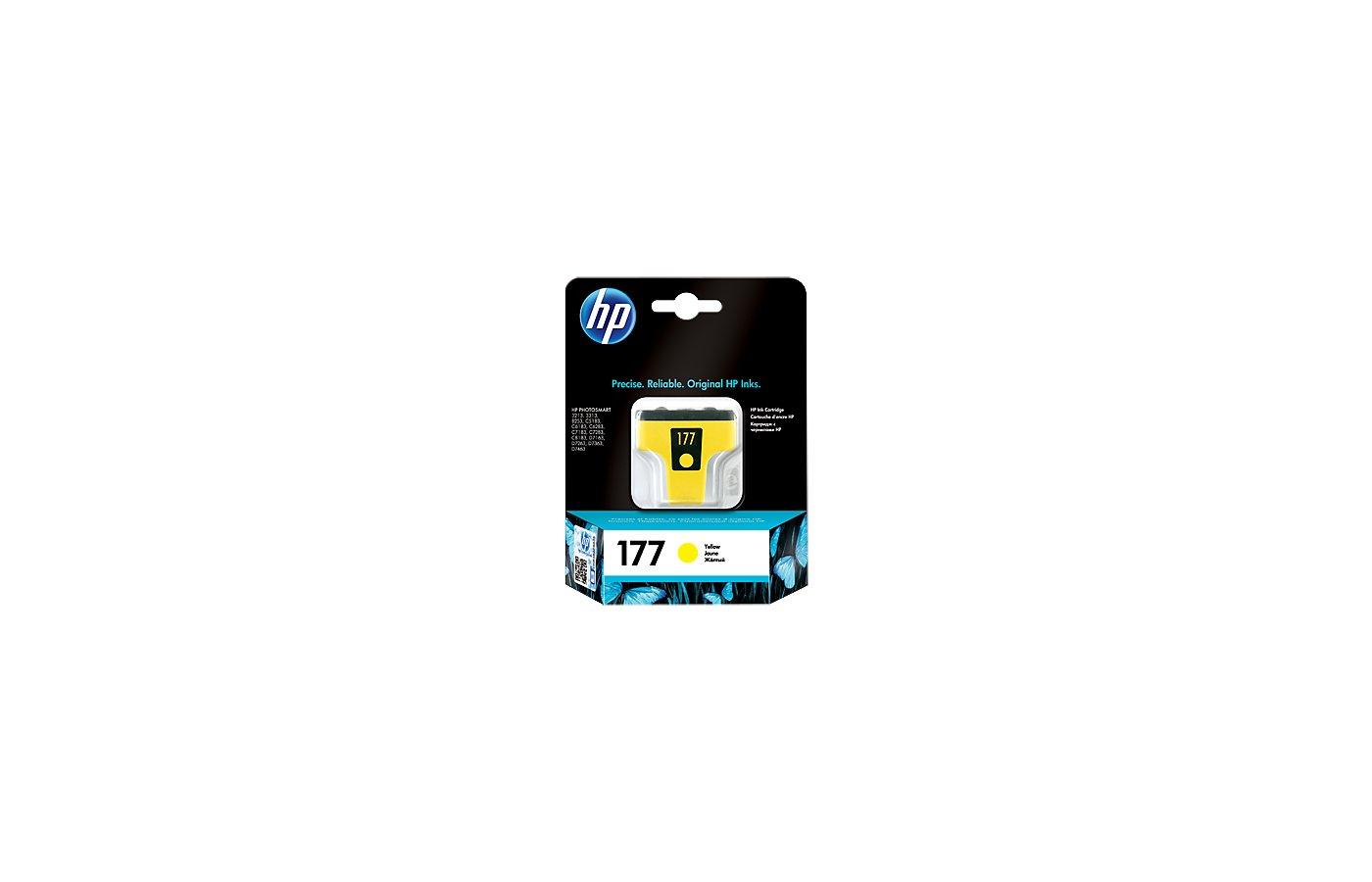 Картридж струйный HP 177 C8773HE желтый для HP 3313/C5183/C6183/C7183/D7163/8253 (500стр.)