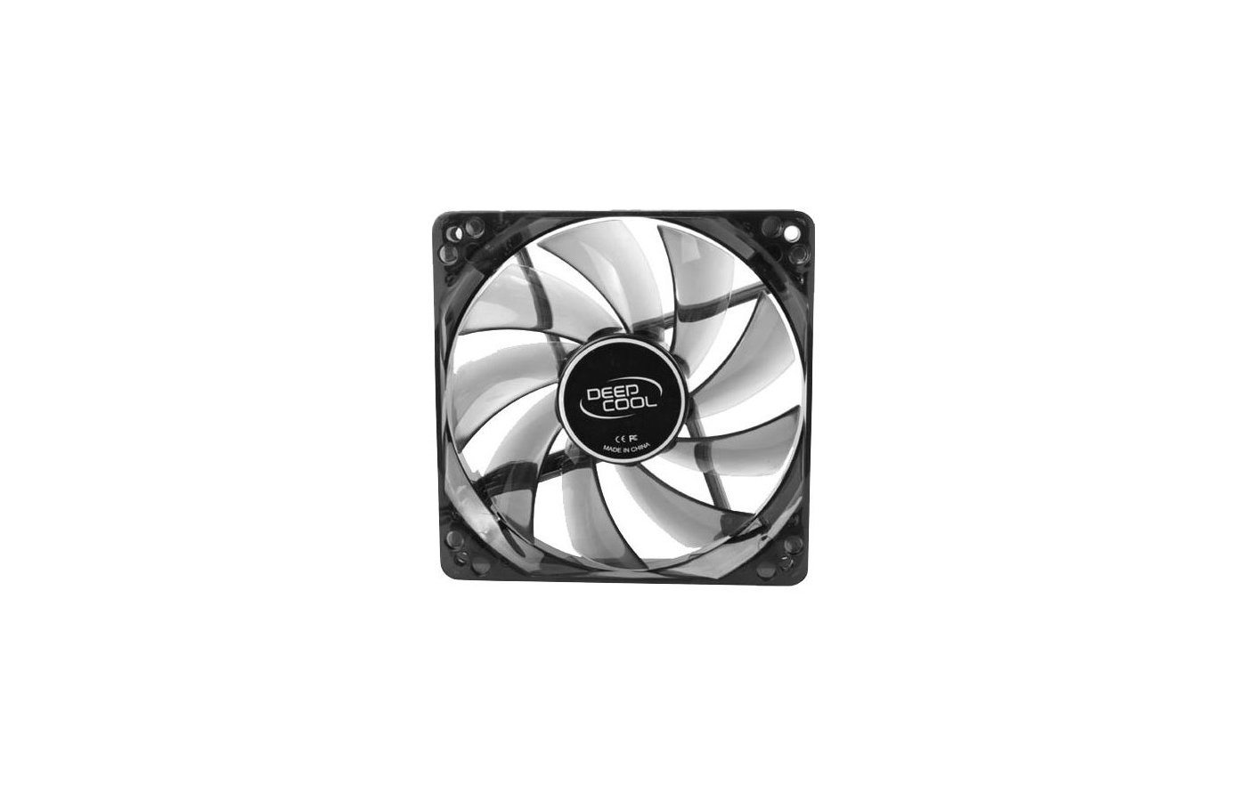 Охлаждение Deepcool WIND BLADE 120 120x120x25 3pin 27dB 1300rpm 119g голубой LED для корпуса