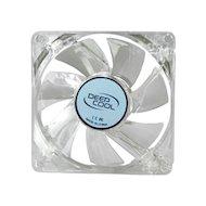 Фото Охлаждение Deepcool XFAN 80L 80x80x25 3pin 20dB 1800rpm 60g голубой LED для корпуса