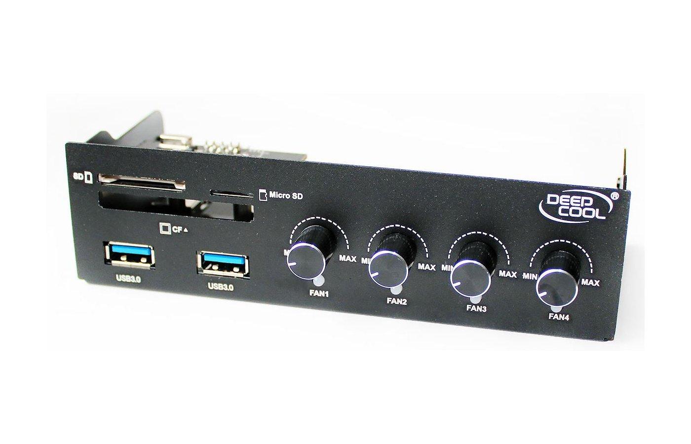Охлаждение Deepcool ROCK MASTER V3.0 3pin 339g слот 5.25 with Card reader CF/SD/Micro SD/2xUSB 3.0 RTL