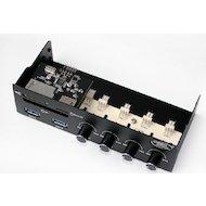 Фото Охлаждение Deepcool ROCK MASTER V3.0 3pin 339g слот 5.25 with Card reader CF/SD/Micro SD/2xUSB 3.0 RTL