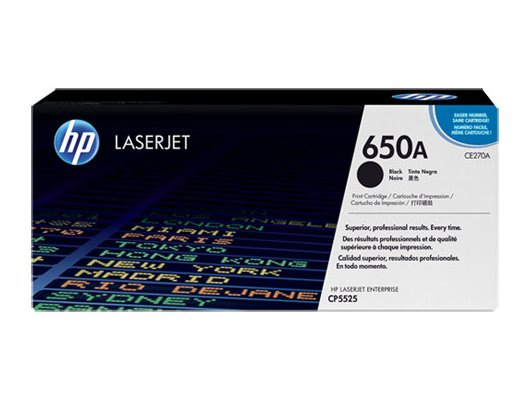 Картридж лазерный HP 650A CE270A черный для HP LJ CP5520/5525 (13500стр.)