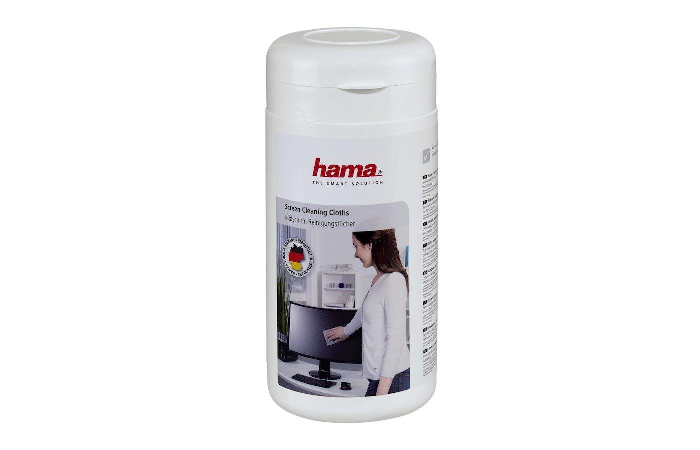 Чистящее средство Hama H-42212 Салфетки влажные для чистки экранов туба 100шт