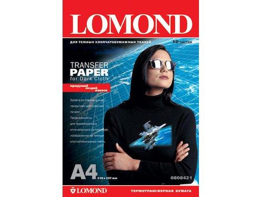 Фотобумага Lomond 0808421 A4/140г/м2/10л./белый Термотрансфер для темных тканей