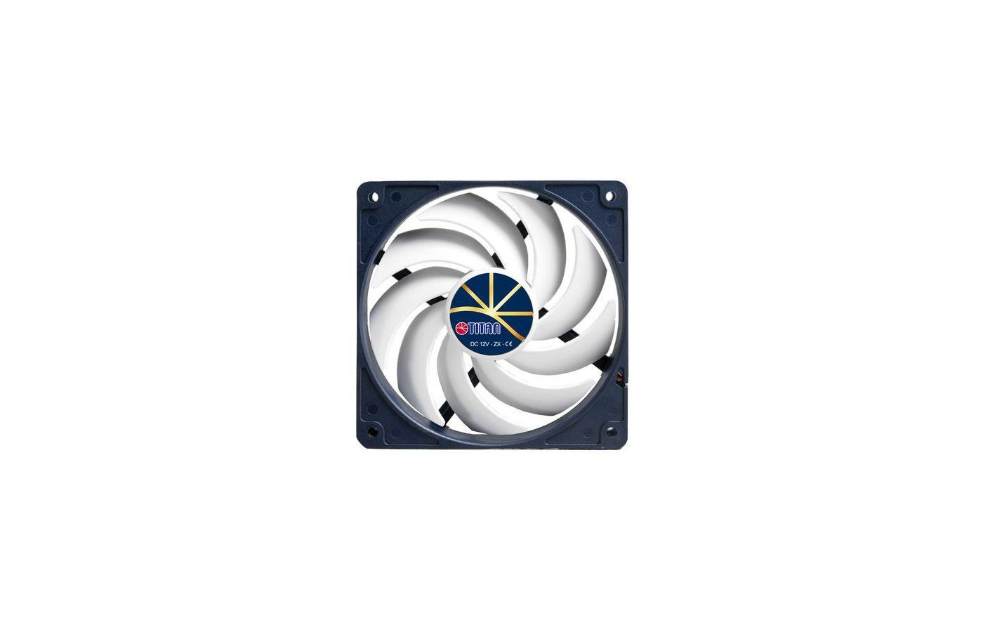Охлаждение Titan TFD-12025H12ZP/KE(RB) 120x120x25 4pin 5-37dB 206g винты extreme-silent RTL для корпуса