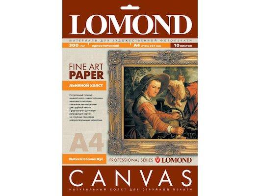 Фотобумага Холст Lomond 0908411 A4/300г/м2/10л./белый матовое лён для струйной печати