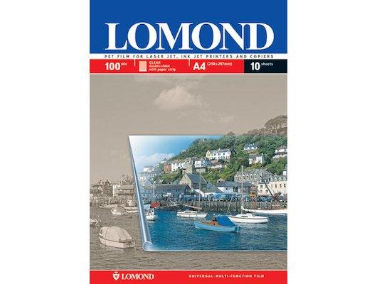Фотобумага Пленка Lomond 0710421 A4/10л./прозрачный универсальная (с покрытием)