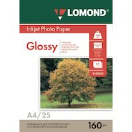 Фотобумага Lomond 0102079 A4/160г/м2/25л./белый глянцевое для струйной печати