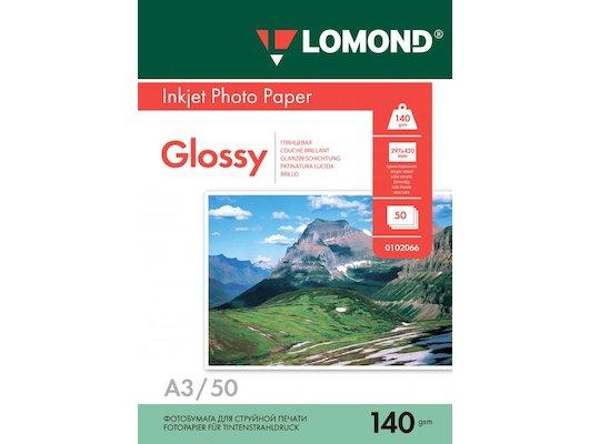 Фотобумага Lomond 0102066 A3/140г/м2/50л./белый глянцевое для струйной печати