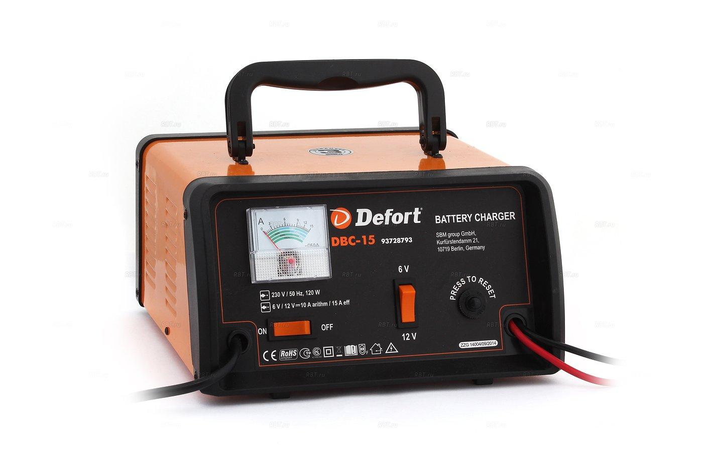 Автомобильное зарядное устройство DEFORT DBC-15