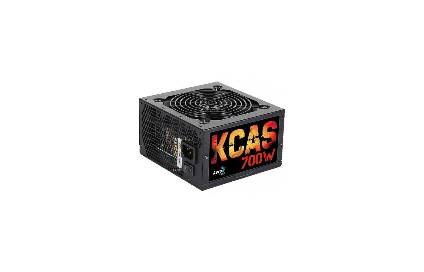Блок питания Aerocool ATX 700W KCAS-700W 80+ bronze (24+4+4pin) APFC 120mm fan 7xSATA RTL