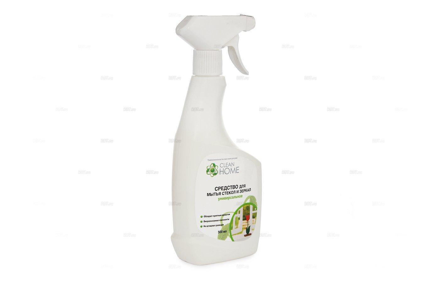 Инвентарь для уборки CleanHome С-во д/мытья стекол и зеркал 500мл 433