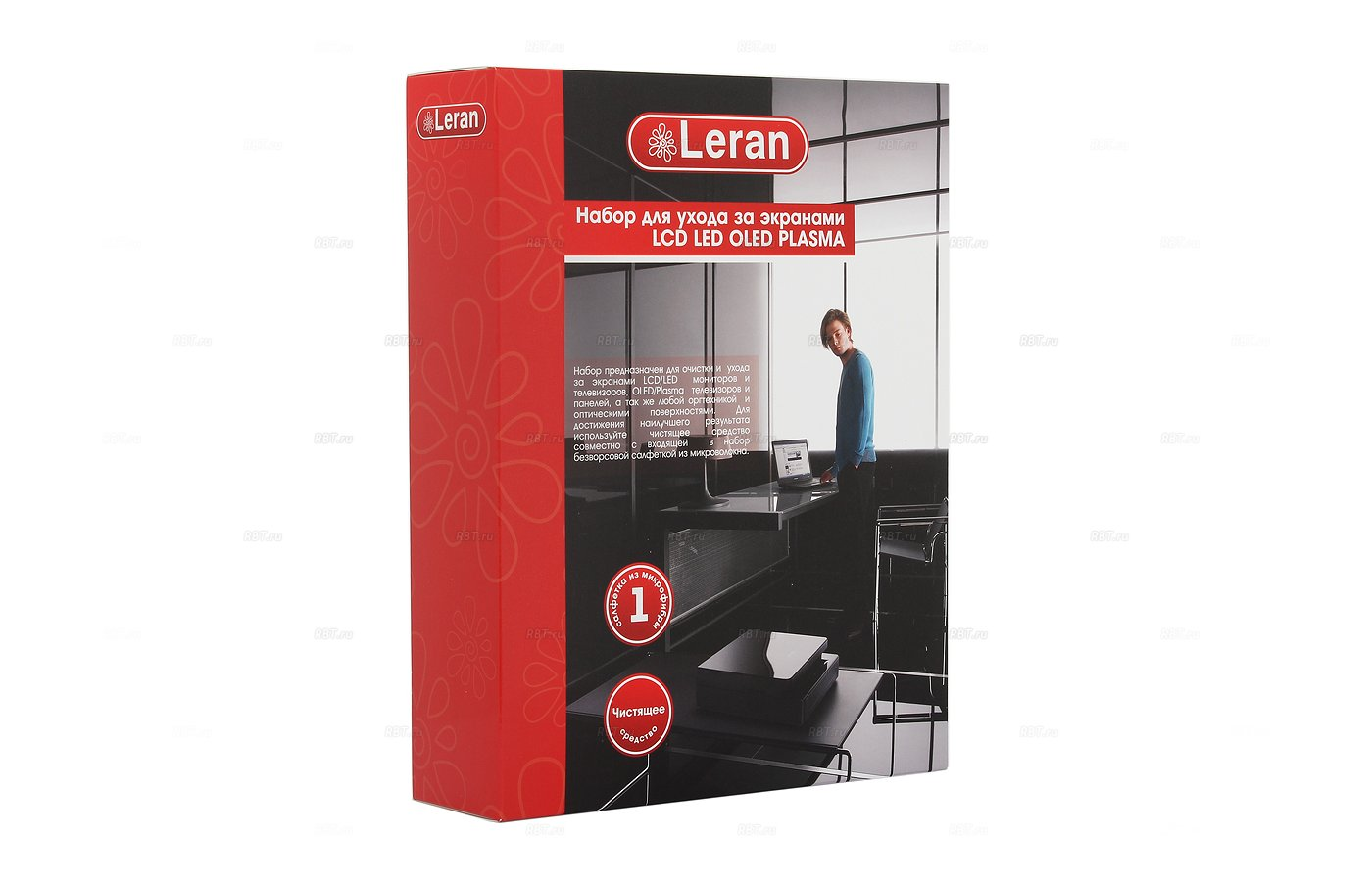 Чистящие средства LERAN L132403 набор д/ухода за экранами LCD/LED/OLED/Plazma