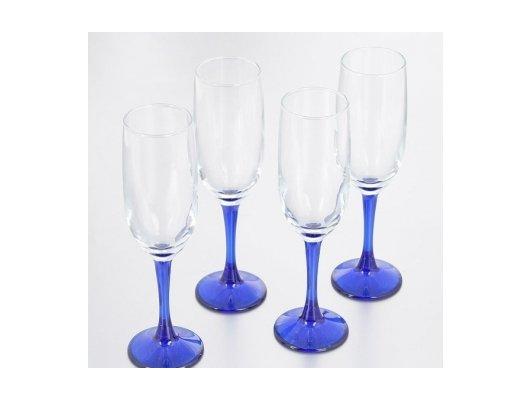 Посуда для напитков Бокал 4шт 155мл Imperial blue 44819