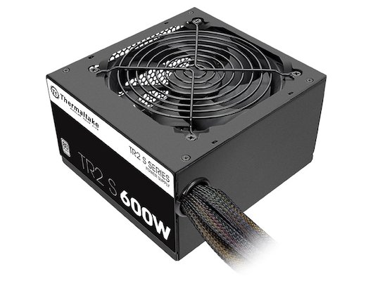 Блок питания Thermaltake ATX 600W TR2 S TRS-600AH2NK 80+ (24+4+4pin) APFC 120mm fan 5xSATA RTL