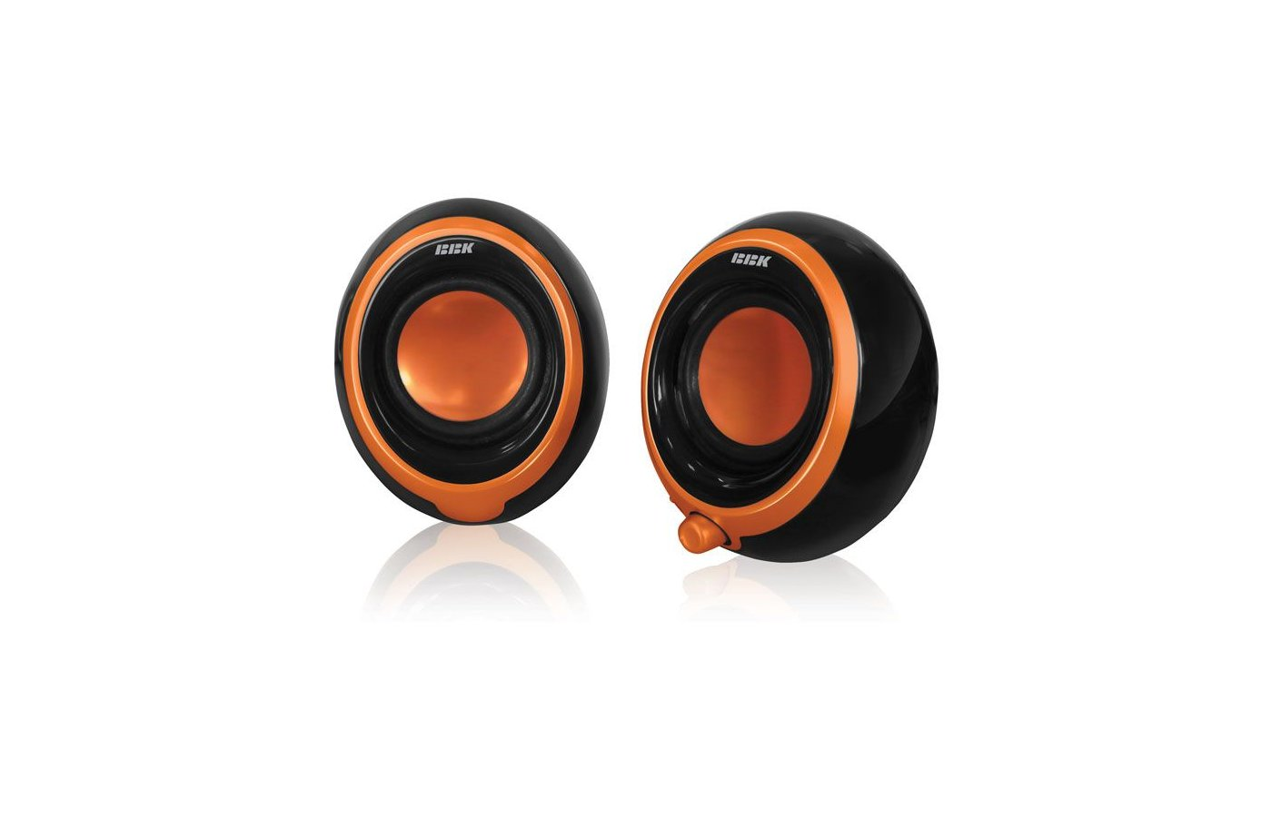 Компьютерные колонки BBK CA-201S черный/оранжевый