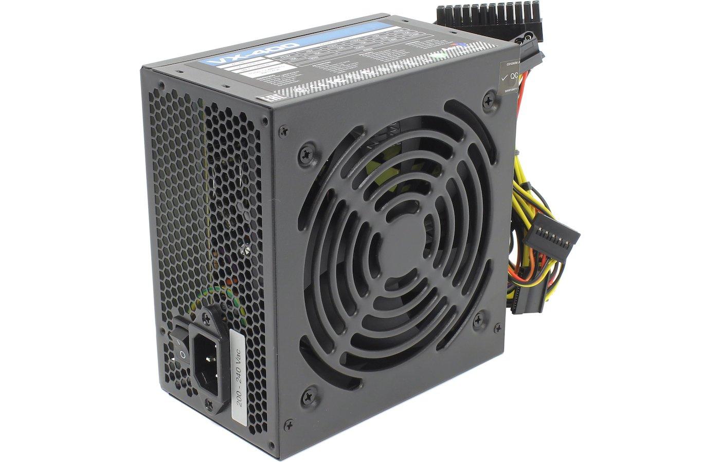 Блок питания Aerocool ATX 400W VX-400 (24+4+4pin) 120mm fan 2xSATA RTL