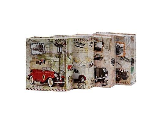 Пакет VETTA 507-458 Пакет подарочный бумажный 32х26х10см Ретро-авто