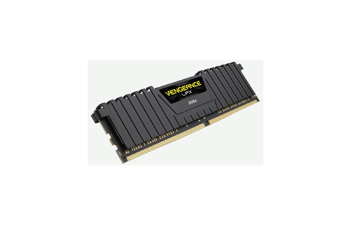 Оперативная память Corsair CMK16GX4M1A2666C16 RTL PC4-21300 DDR4 16Gb 2666MHz CL16 DIMM