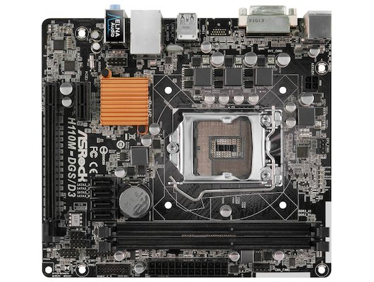 Материнская плата Asrock H110M-DGS Soc-1151 Intel H110 2xDDR4 mATX AC`97 8ch(7.1)