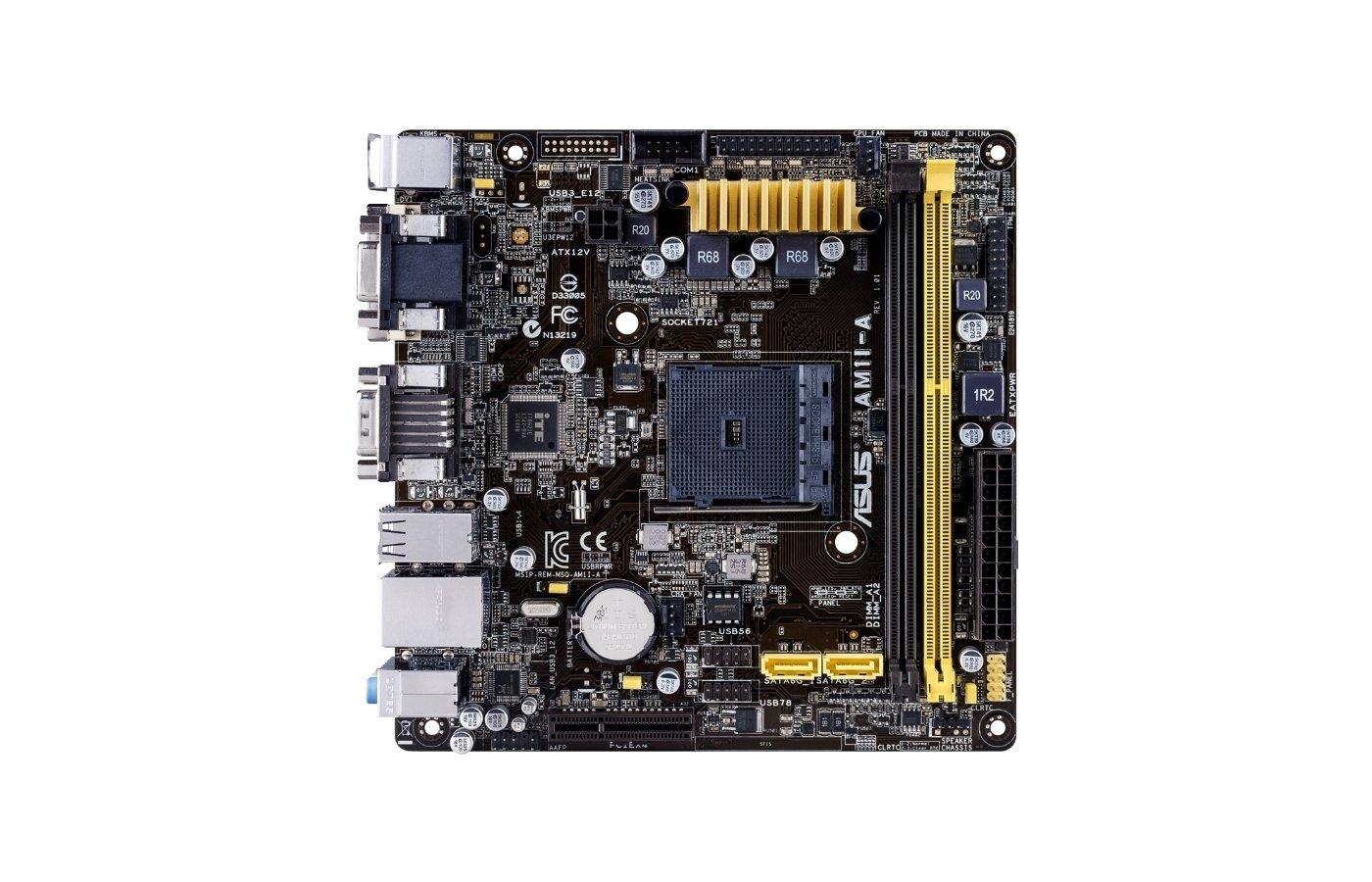 Материнская плата Asus AM1I-A Soc-AM1 2xDDR3 mini-ITX AC`97 8ch(7.1)