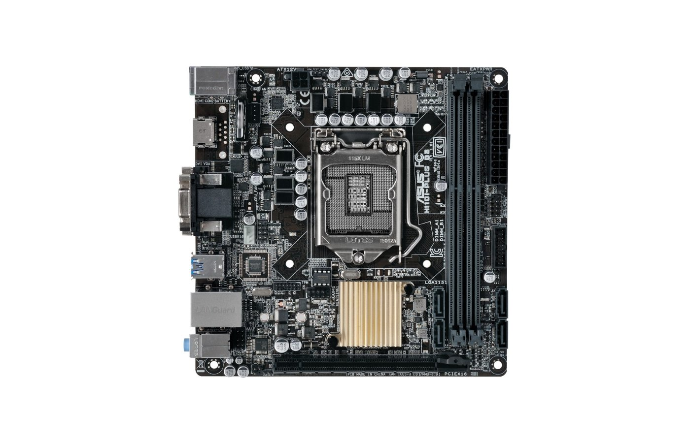 Материнская плата Asus H110I-PLUS Soc-1151 Intel H110 2xDDR4 mini-ITX AC`97 8ch(7.1)