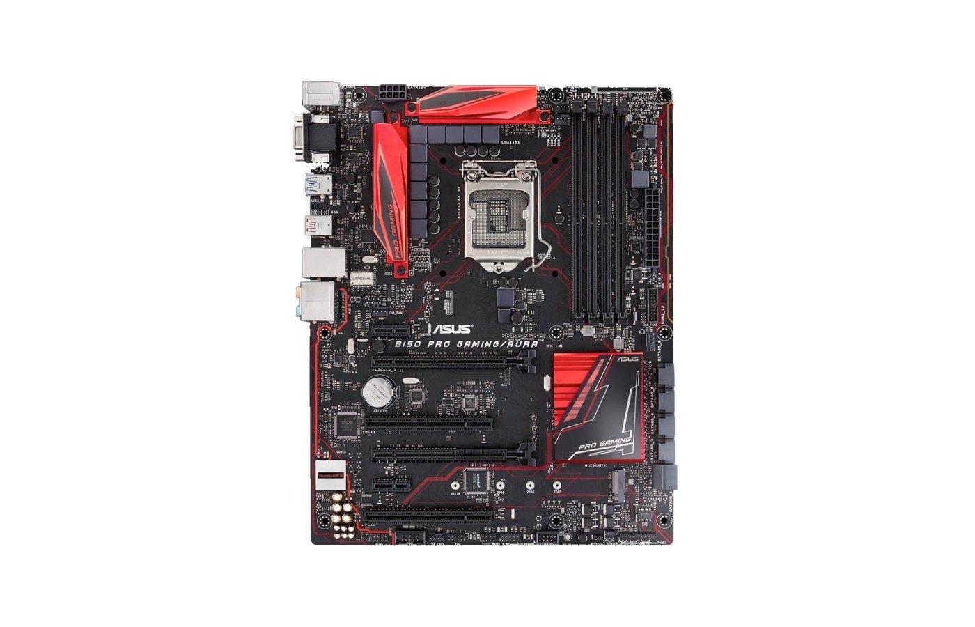 Материнская плата Asus B150 PRO GAMING Soc-1151 Intel B150 4xDDR4 ATX AC`97 8ch(7.1)