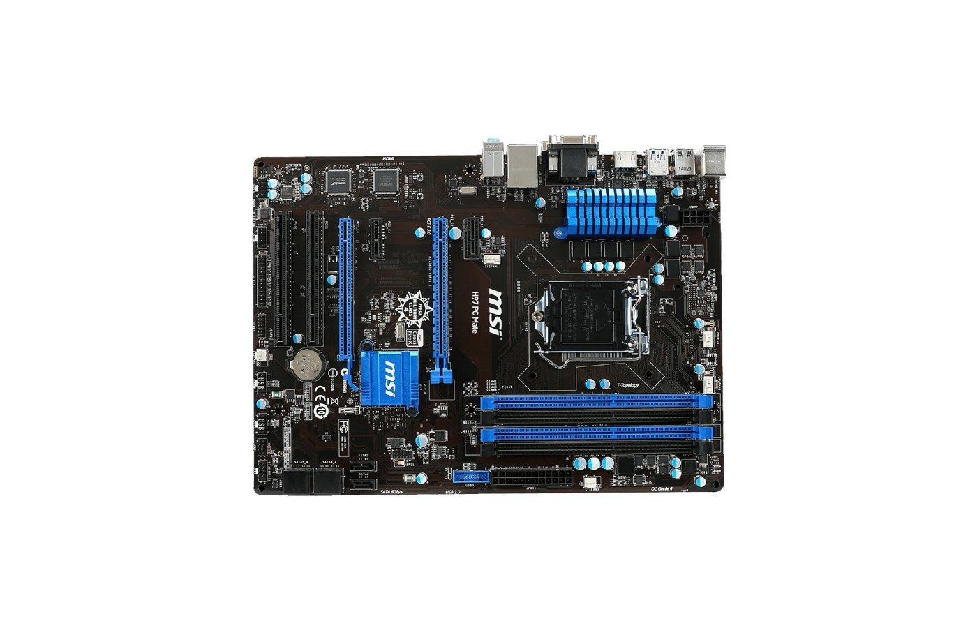 Материнская плата MSI H97 PC Mate Soc-1150 Intel H97 4xDDR3 ATX AC`97 8ch(7.1)