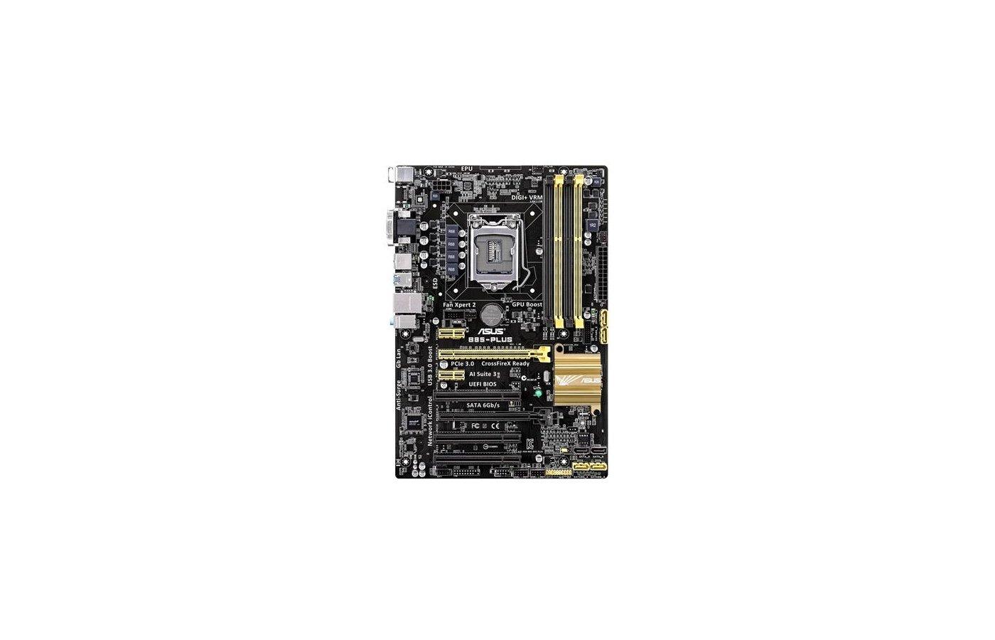 Материнская плата Asus B85-PLUS Soc-1150 Intel B85 4xDDR3 ATX AC`97 8ch(7.1)