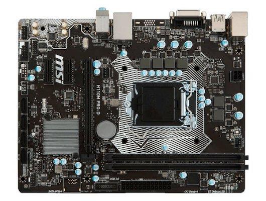 Материнская плата MSI H110M PRO-D Soc-1151 Intel H110 2xDDR4 mATX AC`97 8ch(7.1)
