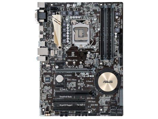 Материнская плата Asus H170-PRO Soc-1151 Intel H170 4xDDR4 ATX AC`97 8ch(7.1)