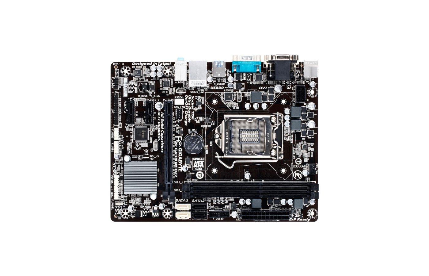 Материнская плата Gigabyte GA-H81M-D2V Soc-1150 Intel H81 2xDDR3 mATX AC`97 8ch(7.1)