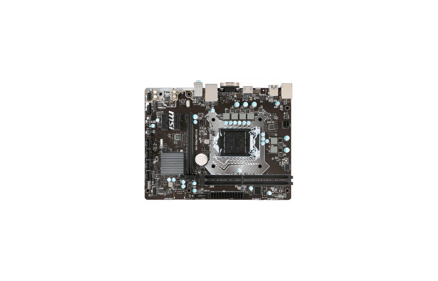 Материнская плата MSI H110M PRO-VH Soc-1151 Intel H110 2xDDR4 mATX AC`97 8ch(7.1)