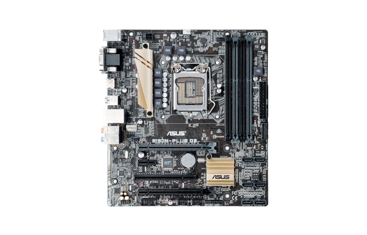 Материнская плата Asus B150M-PLUS Soc-1151 Intel B150 4xDDR4 mATX AC`97 8ch(7.1)