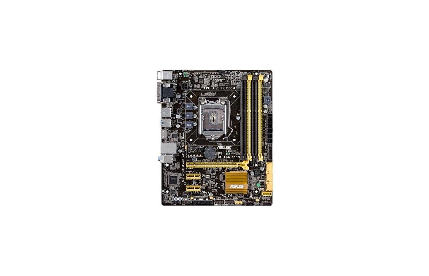 Материнская плата Asus B85M-G Soc-1150 Intel B85 4xDDR3 mATX AC`97 8ch(7.1)