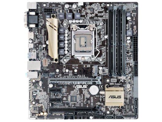 Материнская плата Asus Z170M-PLUS Soc-1151 Intel Z170 4xDDR4 mATX AC`97 8ch(7.1)