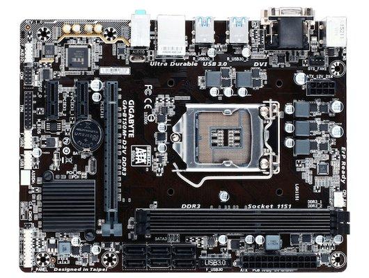 Материнская плата Gigabyte GA-B150M-D2V DDR3 Soc-1151 Intel B150 mATX AC`97 8ch(7.1)