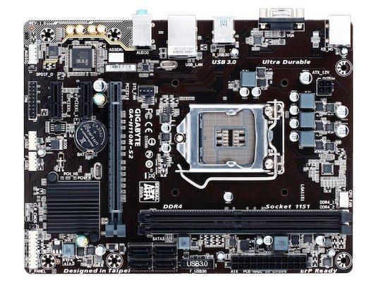 Материнская плата Gigabyte GA-H110M-S2 Soc-1151 Intel H110 2xDDR4 mATX AC`97 8ch(7.1)