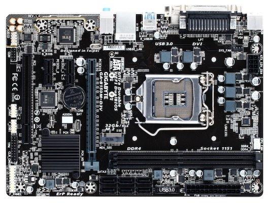 Материнская плата Gigabyte GA-B150M-D3V Soc-1151 Intel B150 2xDDR4 mATX AC`97 8ch(7.1)