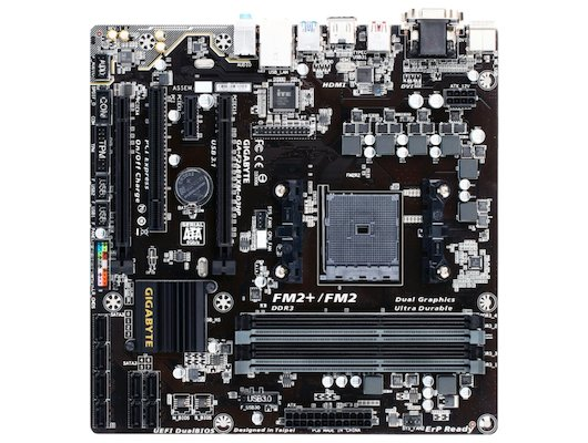 Материнская плата Gigabyte GA-F2A88XM-D3HP Soc-FM2+ AMD A88X 4xDDR3 mATX AC`97 8ch(7.1)