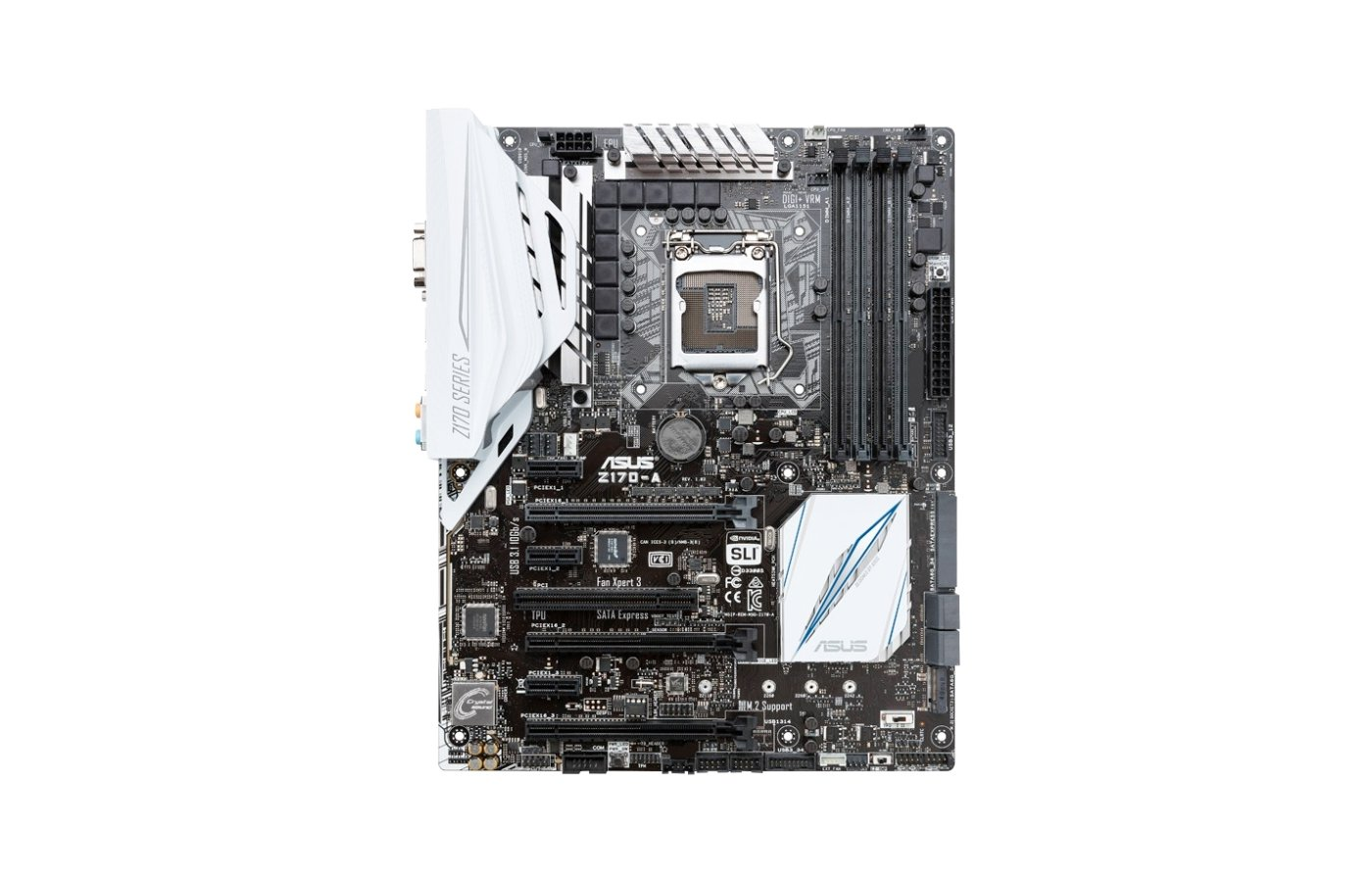 Материнская плата Asus Z170-A Soc-1151 Intel Z170 4xDDR4 ATX AC`97 8ch(7.1)
