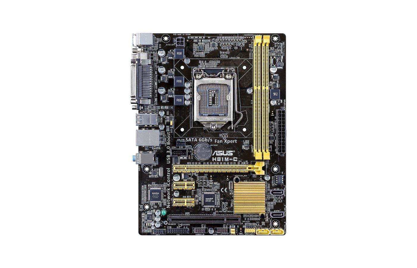 Материнская плата Asus H81M-C Soc-1150 Intel H81 2xDDR3 mATX AC`97 8ch(7.1)