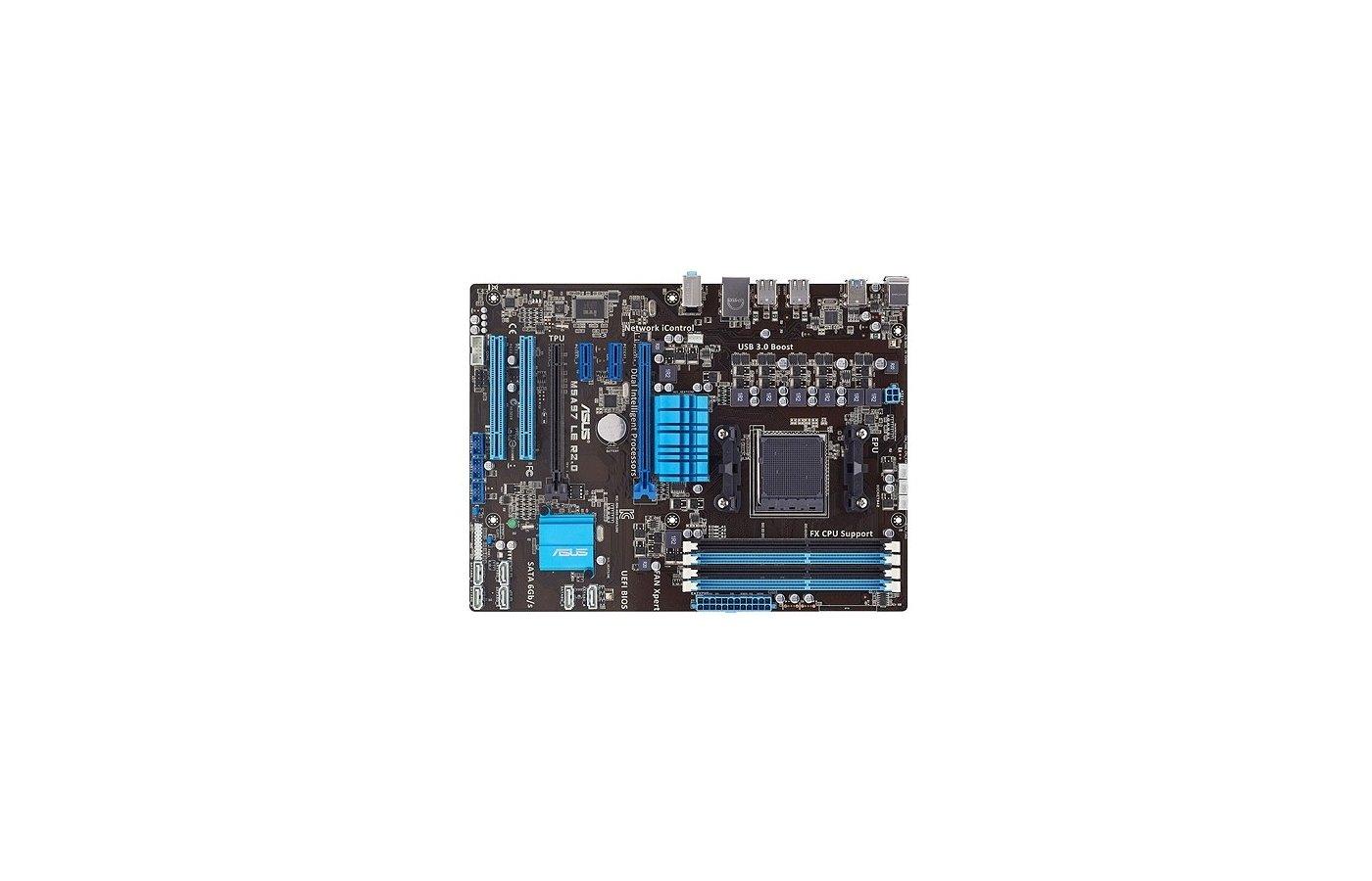 Материнская плата Asus M5A97 LE R2.0 Soc-AM3+ AMD 970 4xDDR3 ATX AC`97 8ch(7.1)