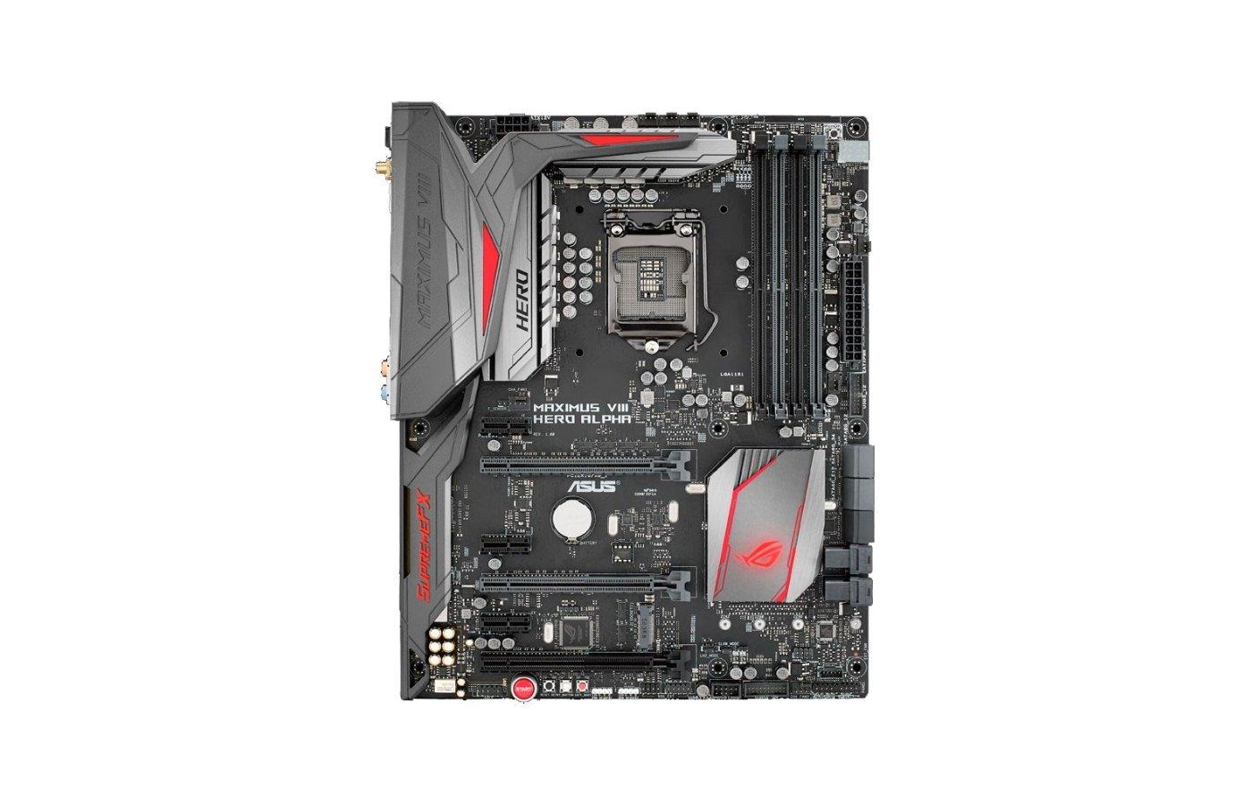 Материнская плата Asus MAXIMUS VIII HERO ALPHA Soc-1151 Intel Z170 4xDDR4 ATX AC`97 8ch(7.1)