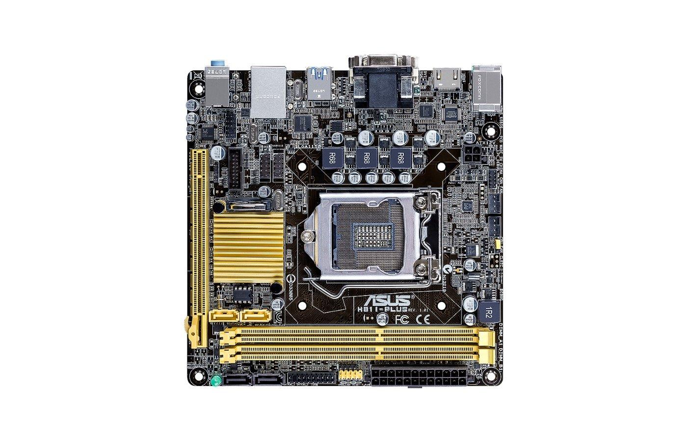 Материнская плата Asus H81I-PLUS Soc-1150 Intel H81 2xDDR3 mini-ITX AC`97 8ch(7.1)