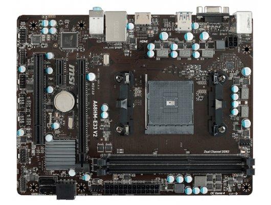 Материнская плата MSI A68HM-E33 V2 Soc-FM2+ AMD A68H 2xDDR3 mATX AC`97 8ch(7.1)