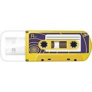 Флеш-диск USB 2.0 Verbatim 32Gb Mini Cassette Edition 49393 желтый/рисунок