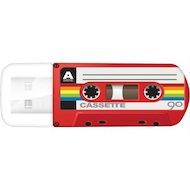 Флеш-диск USB 2.0 Verbatim 32Gb Mini Cassette Edition 49392 красный/рисунок