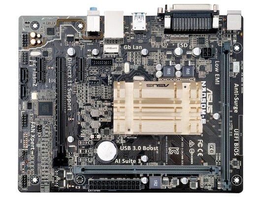 Материнская плата Asus N3050M-E 2xDDR3 mATX AC`97 8ch(7.1)